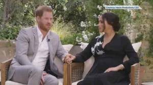 Harry and Meghan break silence on royal life in Oprah interview (02:26)