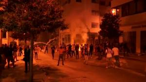 Beirut explosion: Fire breaks out near Lebanese parliament amid clashes with protesters