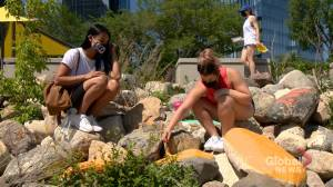 Young Indigenous artists create Saskatoon memorial for residential school victims (01:44)