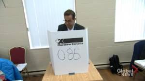 Federal Election 2019: Bloc Québécois' Blanchet votes