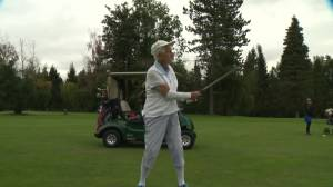 95-year-old Gerry Abrams inspires fellow golfers on Women's Golf Day (02:12)