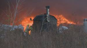 Clean-up complete following tire fire in New Brunswick