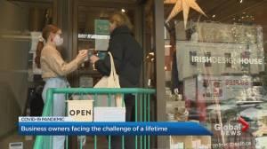 Coronavirus: Ontario businesses struggle as lockdown extended (02:44)