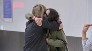 """""""It means the world"""": Families, friends reunite as UK eases COVID-19 travel rules (03:39)"""