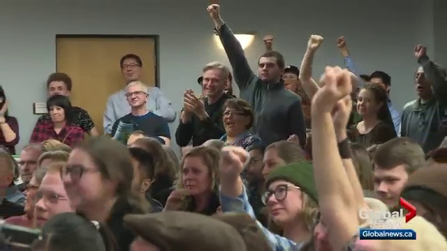Edmontonians attend 'Resistance Town Hall' amid fears of major cuts to Alberta's public sector workforce