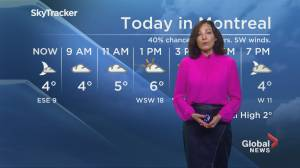 Global News Morning weather forecast: Tuesday November 26, 2019