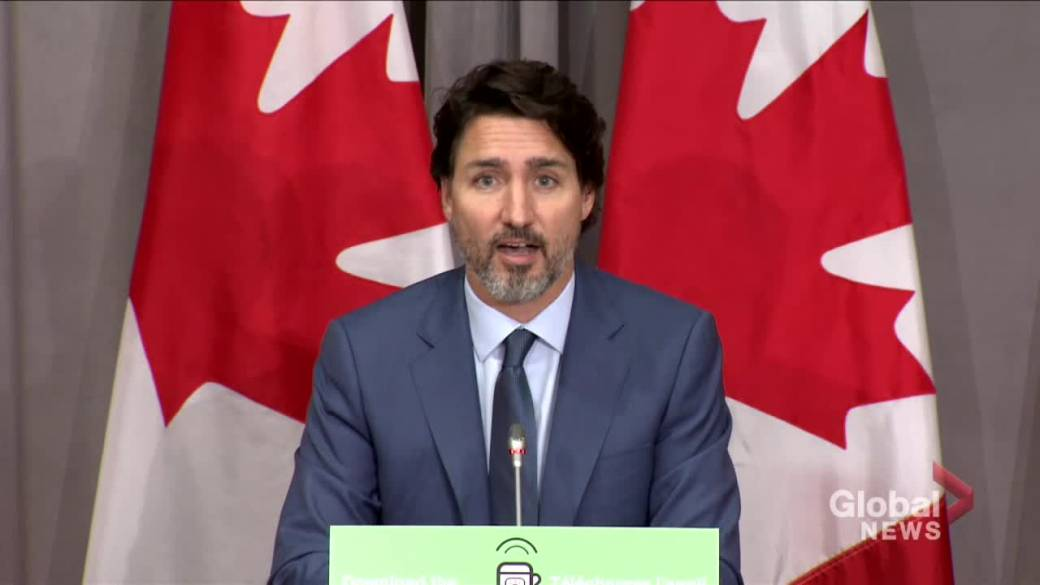 Click to play video 'Coronavirus: Trudeau 'disappointed' at RCMP mask policy requiring shaving of beards'