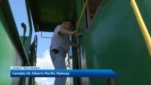 Vandals hit tourism rail cars in Port Alberni
