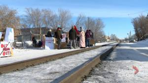 Senator, former PPC candidate appear at Saskatoon Wet'suwet'en demonstrations