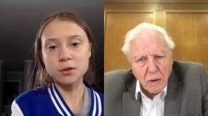 'You have woken up the world' David Attenborough tells Greta Thunberg during chat on climate
