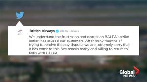 British Airways CEO trades barbs with pilots union over strike