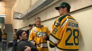 Ryan Straschnitzki, hurt in Broncos crash, returns to Humboldt