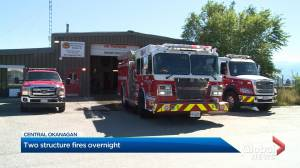 West Kelowna firefighters challenged by debris while extinguishing midnight blaze
