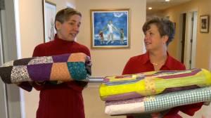 Palliative care patients receive handmade quilts