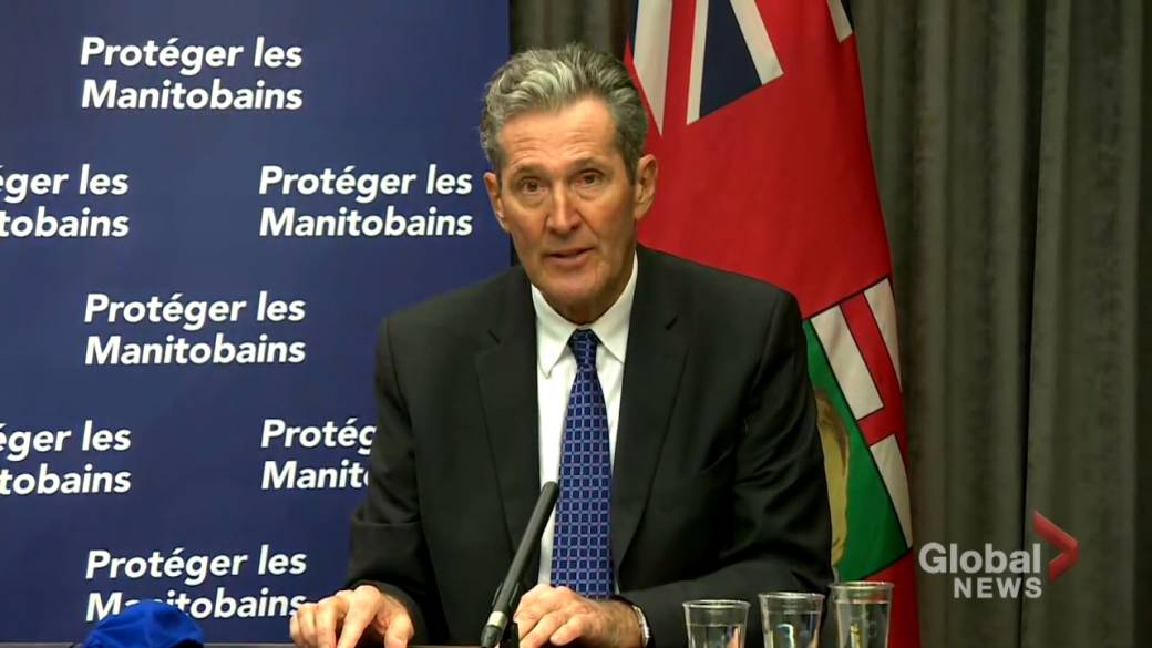Click to watch video '' Don't Play With The System '' Pallister discusses Manitoba's new in-store ban on non-essential items