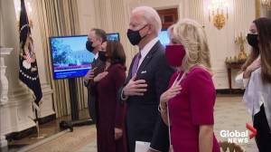 President Biden, VP Harris attend virtual presidential prayer service (01:17)