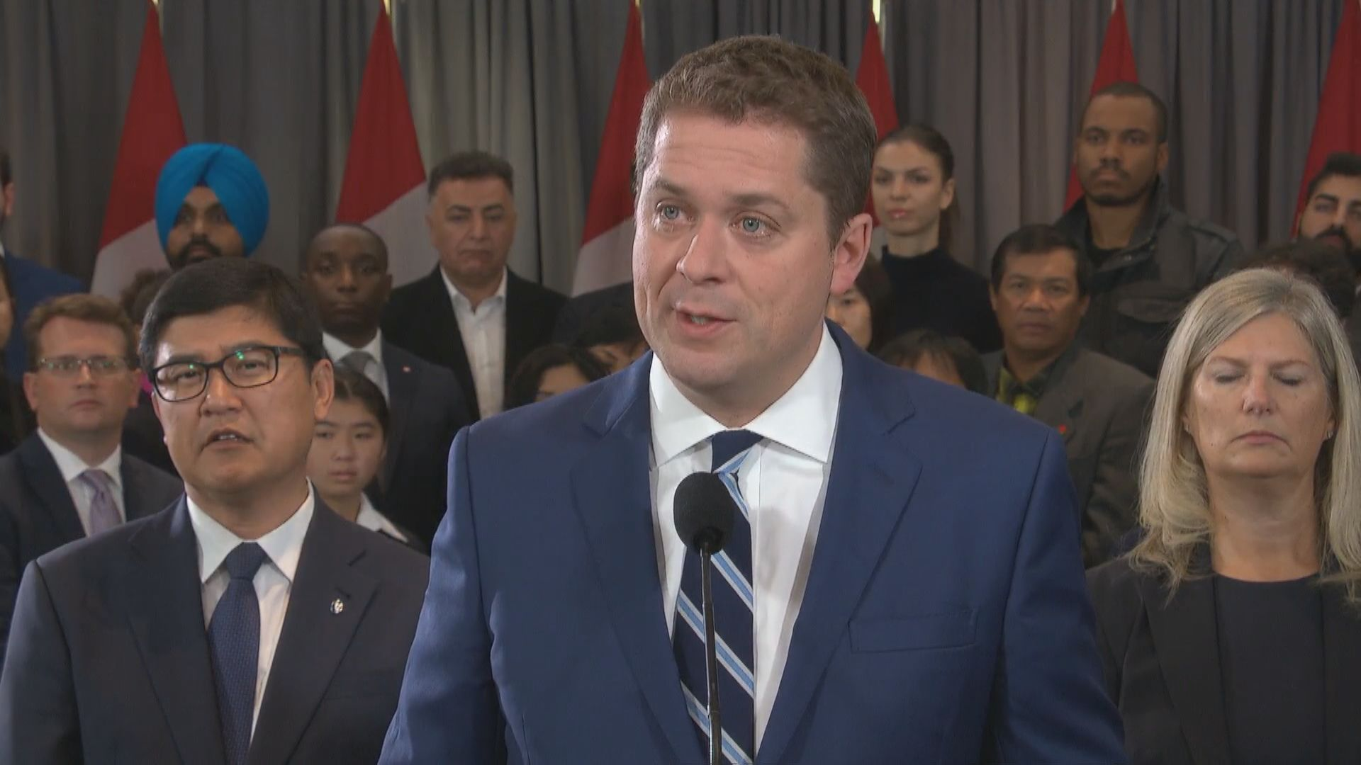 Federal Election 2019: 'It's up to him to explain' Scheer says when questioned about claim Liberals and NDP are eyeing coalition