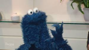 Cookie Monster on Sesame Street's 50th Anniversary