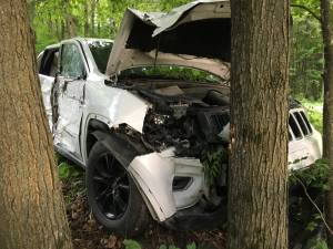 Man charged with drug-impaired driving after crashing stolen SUV from Peterborough: OPP (00:30)