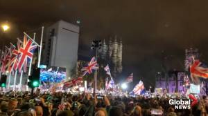 Brexiteers celebrate the United Kingdom's exit from European Union