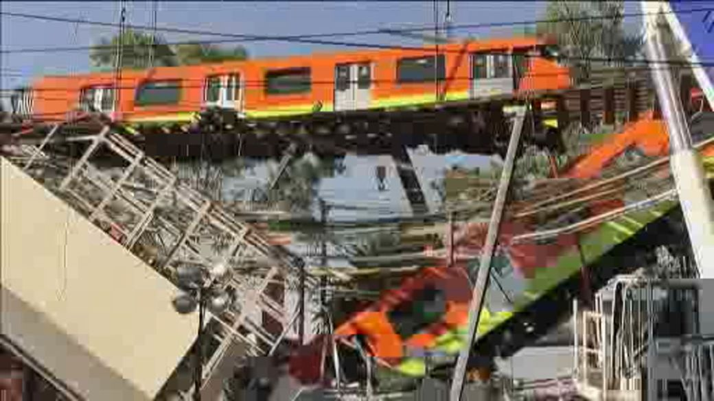 Click to play video: 'Mexico City subway overpass collapse kills at least 24 people'
