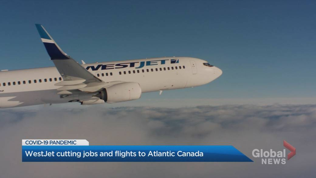 Click to play video 'WestJet cutting jobs and flights to Atlantic Canada'