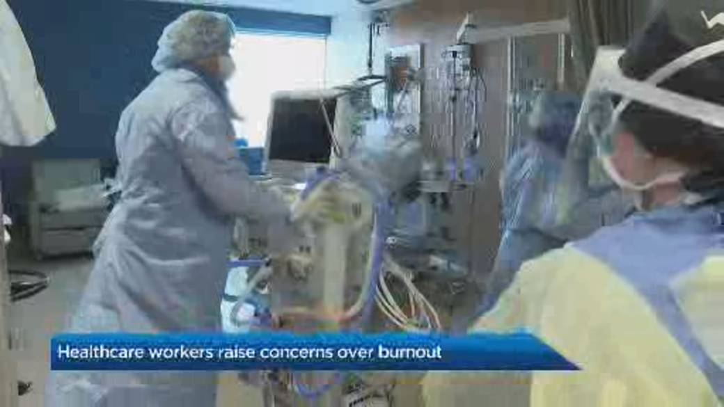 Click to play video 'Ontario health-care workers sounding alarm over burnout as economy prepares to reopen'