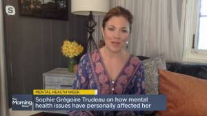 Sophie Grégoire Trudeau opens up about personal struggles for Mental Health Week (08:21)