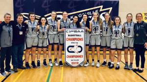 The Frontenac Falcons win the OFSSA girls basketball championship title