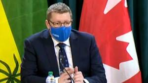Saskatchewan premier responds to NDP's critique of releasing province's budget on Humboldt bus crash anniversary (01:34)