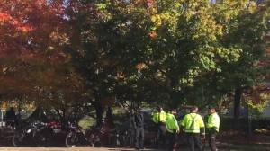 Removal of encampment underway at National War Memorial in Ottawa