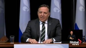 Quebec premier announces lockdowns for Quebec City, Levis, Gatineau, warns COVID-19 could 'explode' (05:40)