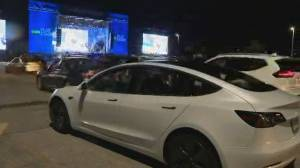 Ontario Place holds drive-in viewing party for Leafs playoff game