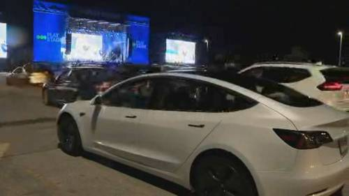 Ontario Place holds drive-in viewing party for Leafs playoff game | Watch News Videos Online