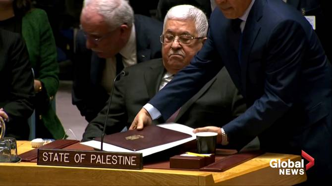 Click to play video: President Abbas: U.S. plan offers Palestinians 'Swiss cheese' state