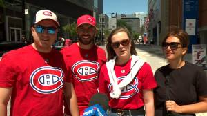 Montrealers feeling festive with Fête nationale, Habs on the cusp of finals (01:47)