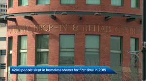 First admissions to Calgary's homeless shelters more common than you think, study suggests (01:43)