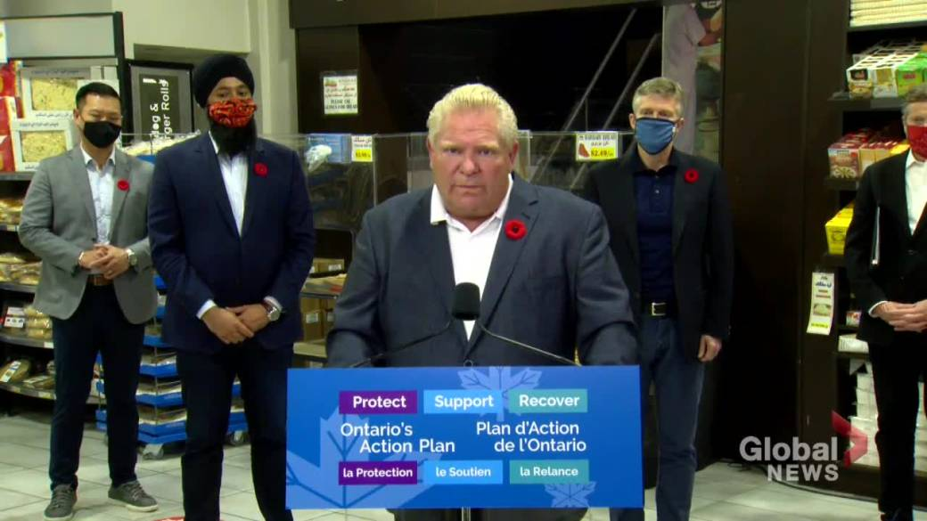 Click to play video 'Coronavirus: Without health, safety of public there is no economy, says Ford'
