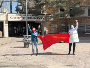 Saskatoon Burmese community protest for democracy in Myanmar (01:59)