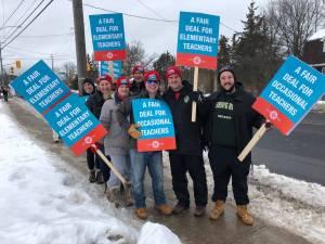 Elementary teachers in Kawartha Pine Ridge stage one-day walk out