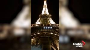 Coronavirus outbreak: Eiffel Tower lights up in tribute to essential workers