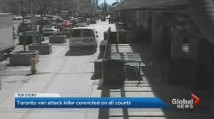Toronto van attack killer convicted on all counts (02:50)