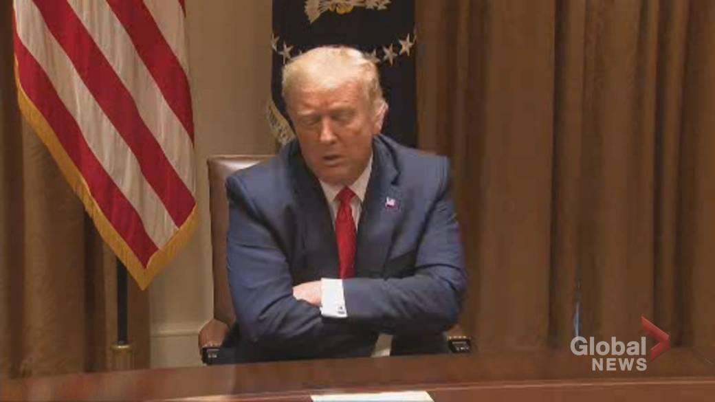 Videoyu izlemek için tıklayın: 'Trump, Anayasa Mahkemesi'nin kararından sonra vergi beyannamesi soruşturmasını' siyasi cadı avı 'olarak nitelendirdi'