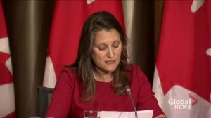 COVID-19 vaccine mandatory for federal workers by end of October: Freeland (01:41)