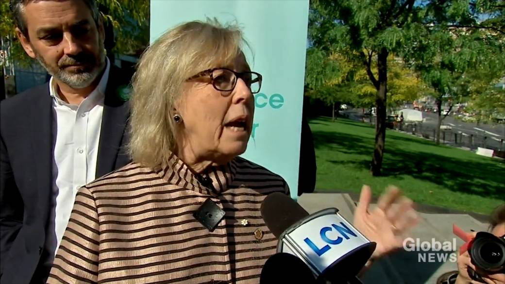 Click to play video 'Federal Election 2019: 'We will take on the web giants': Green Party Leader Elizabeth May'