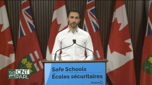 Coronavirus: Ontario education minister announces $381 million in health and safety measures funding for schools (01:16)