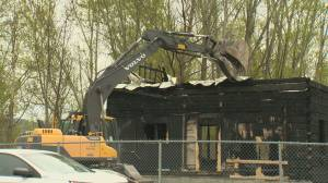 A nearly 150-year-old building in Kelowna is likely a write-off after an overnight fire (02:24)