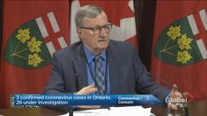 Ontario health officials provide coronavirus update