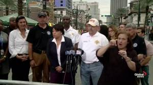 Authorities say engineers 'amazed' cranes still standing after New Orleans hotel construction site collapse