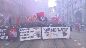Climate protesters denounce Trump Davos appearance as a 'farce'
